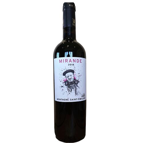 Wine Sophie-Guimberteau-Charles-Foray - 2018 - Chateau-Franc-Baudron - Mirande - Red - Cabernet - AOP-Montagne-St-Emilion - Bordeaux - 33570 - Mountain