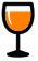 Glass of wine Orange